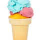 Ice cream with colorful balls in a waffle cup - PhotoDune Item for Sale