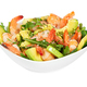 Salad with avocado, shrimp and arugula in white bowl - PhotoDune Item for Sale
