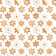 Seamless pattern with christmas gingerbread cookies in the shape of snowflakes - PhotoDune Item for Sale