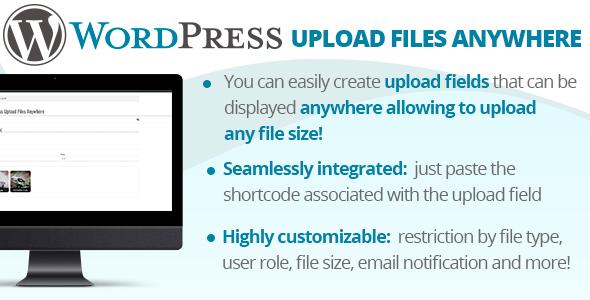 WordPress Upload Files Anywhere