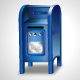 Vector Blue Mailbox Icon - GraphicRiver Item for Sale