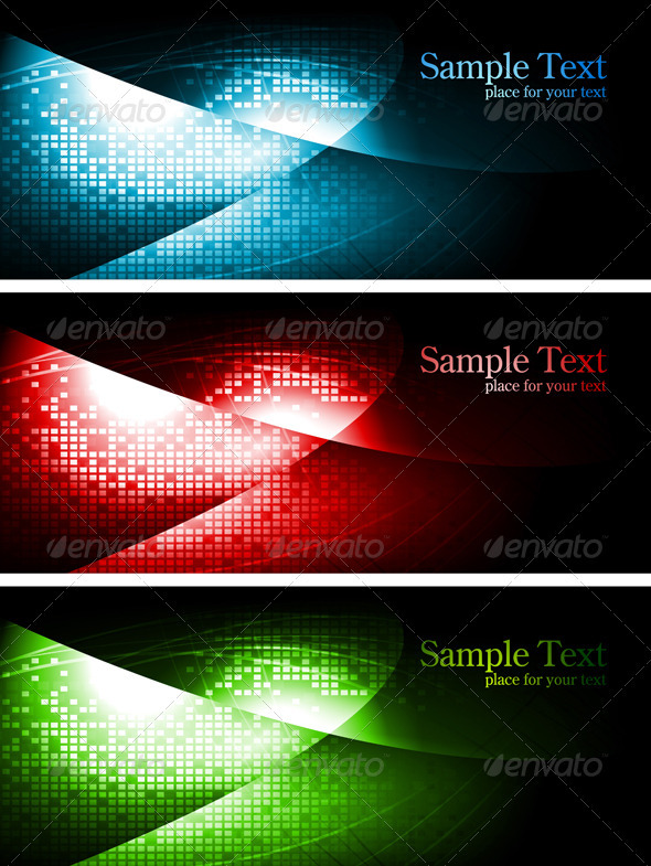 Dark contrast banners - Backgrounds Decorative