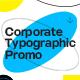 Corporate Typographic Promo - VideoHive Item for Sale