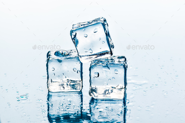 ice cubes on white background. creative photo - Stock Photo - Images