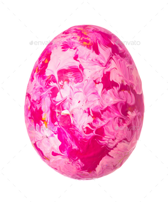Colorful Easter Egg isolated on white. Creative photo - Stock Photo - Images