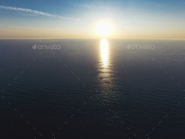 Sea waves on a beautiful sea in the morning - Stock Photo - Images