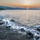 Sunset on the seashore, rocky beach - PhotoDune Item for Sale