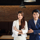 young asian professional businesspeople, man and woman, working in office - PhotoDune Item for Sale