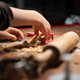 Child making delicious vegan holiday cookies of rolled pastry dough - PhotoDune Item for Sale