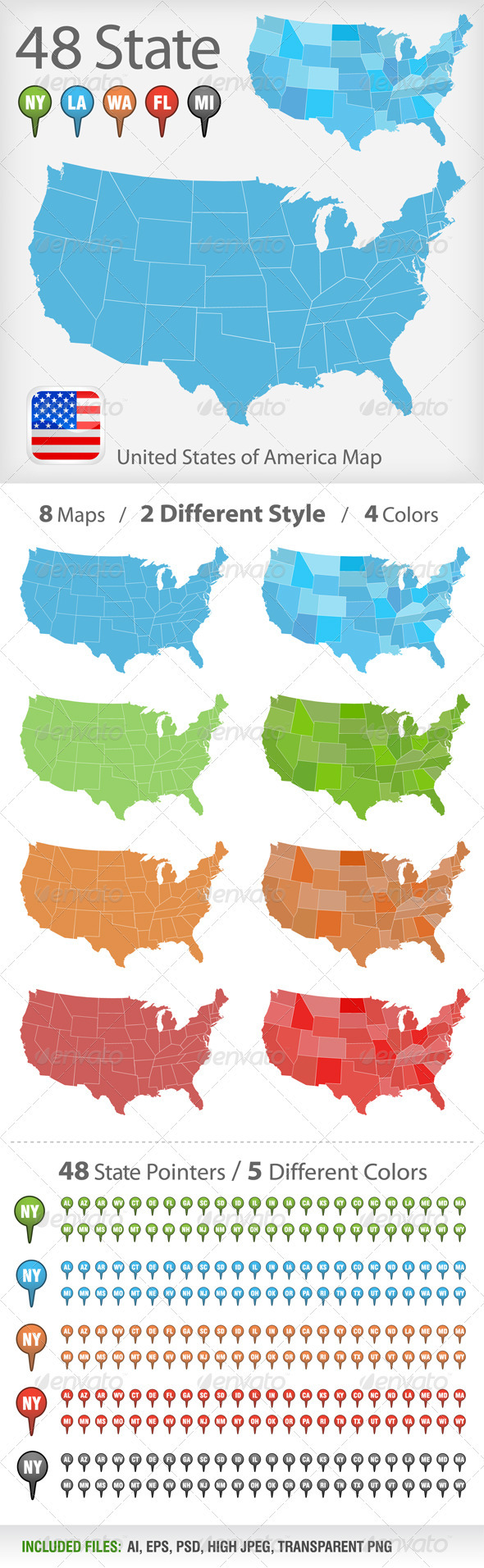 USA map vector - Miscellaneous Vectors