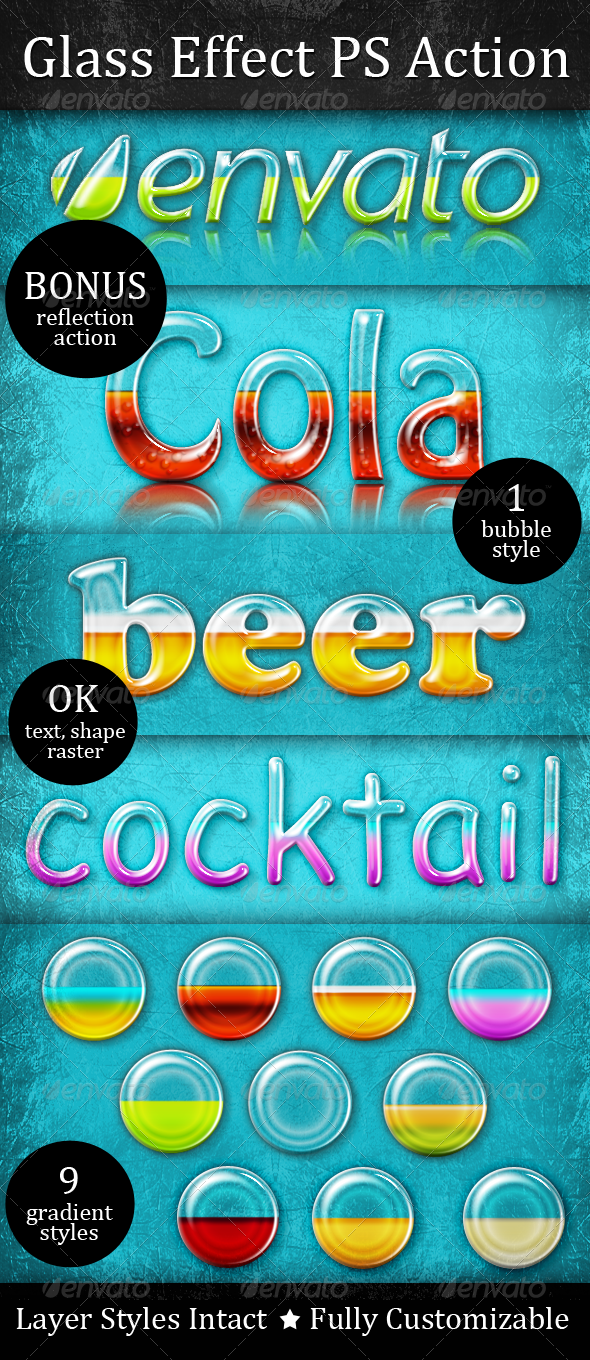 Liquid Filled Glass Effect Action - Text Effects Actions