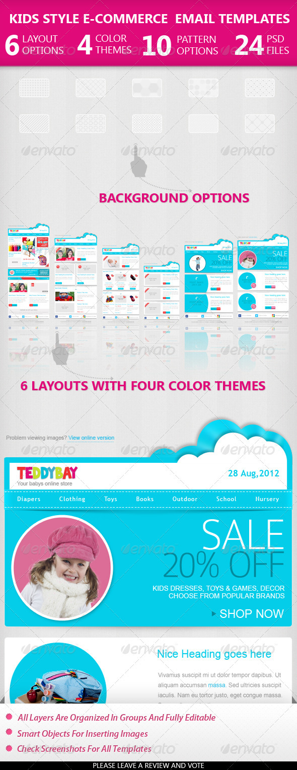 Kids Style Ecommerce Email Templates by mail1395 | GraphicRiver