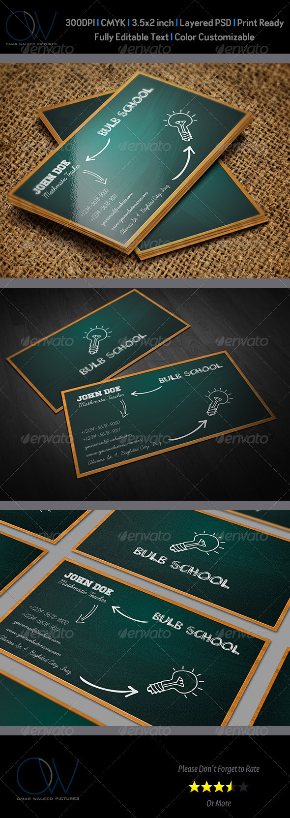 School business card by owpictures graphicriver school business card creative business cards magicingreecefo Gallery