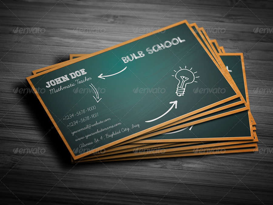 School Business Card by OWPictures | GraphicRiver