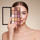 Beauty woman with eye shadow makeup palette - PhotoDune Item for Sale