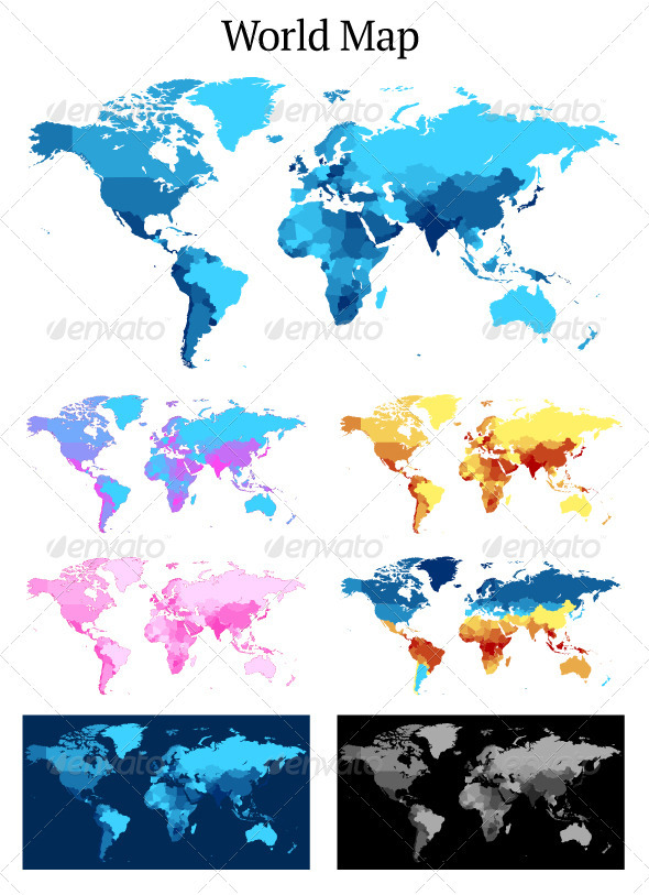 Detailed Vector Map of the World - Miscellaneous Conceptual