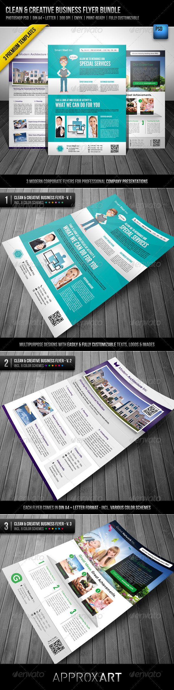 Clean & Creative Business Flyer Bundle - Corporate Flyers