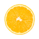 Valencia orange, top view, cross section and bottom view, over white - PhotoDune Item for Sale
