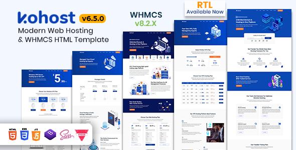 Kohost – Modern Web Hosting & WHMCS Template