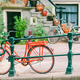 Bikes on the bridge in Amsterdam, Netherlands. Beautiful view of canals in autumn - PhotoDune Item for Sale
