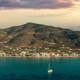 Sifnos island, Platis Gialos village Cyclades Greece. Panoramic view sunset sea sandy beach. Banner - PhotoDune Item for Sale