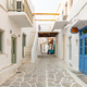 Paros island, Greece. Whitewashed buildings, narrow cobblestone streets - PhotoDune Item for Sale