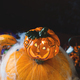 Halloween squash and candle. Spider net - PhotoDune Item for Sale