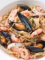 Bowl of Seafood Tagliatelle