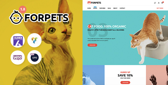 Incredible Forpets - Food Shop WooCommerce Theme