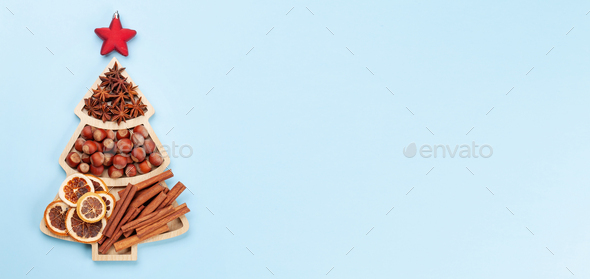 Various spices and ingredients for Christmas - Stock Photo - Images