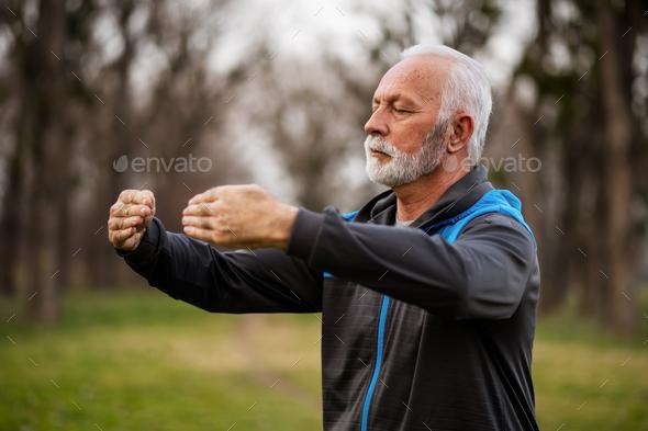 Tai chi exercise - Stock Photo - Images