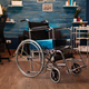 Close up of empty wheelchair for disability at home - PhotoDune Item for Sale