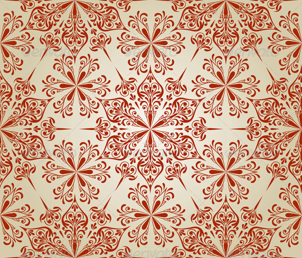 Vector Seamless Floral Pattern - Patterns Decorative