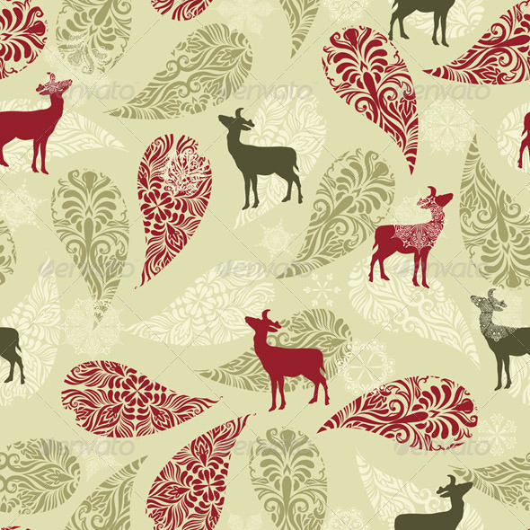 Vector Winter Seamless Pattern - Patterns Decorative