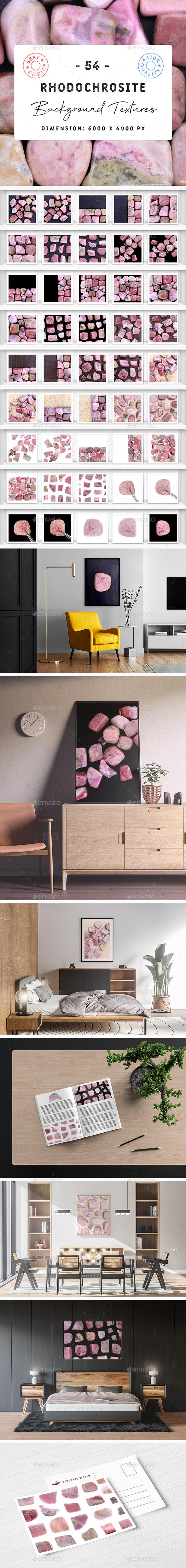 50 Rhodochrosite Background Textures