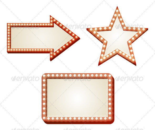 Arrow lights sign - Borders Decorative