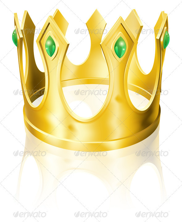 Gold crown illustration - Man-made Objects Objects