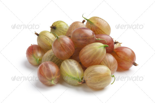 Whole fresh gooseberries - Stock Photo - Images