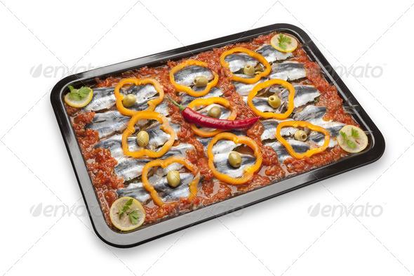 Moroccan sardine dish receipe - Stock Photo - Images