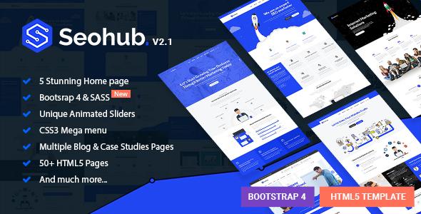 Extraordinary SEOhub - Digital Marketing Agency HTML5 Template