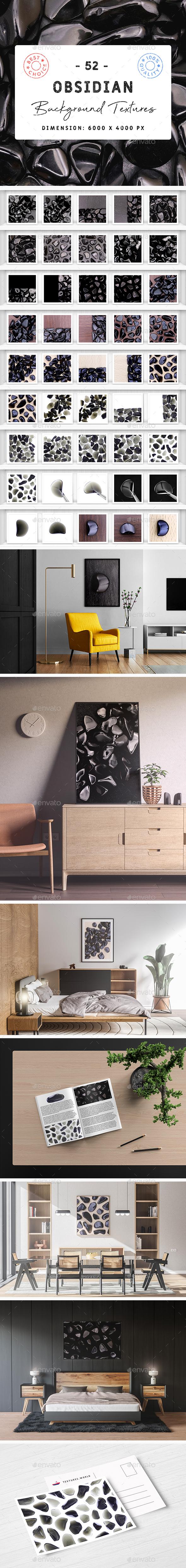 52 Obsidian Background Textures