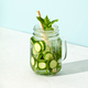 Delicious refreshing water with mint and cucumber with hard light and shadows - PhotoDune Item for Sale