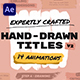 Hand Drawn Brush Titles - VideoHive Item for Sale