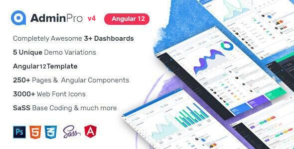 AdminPro Angular 12 Dashboard Template
