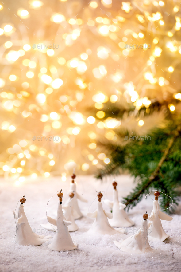 Porcelain Christmas angels - Stock Photo - Images