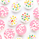 Colorful cupcakes on a white background. - PhotoDune Item for Sale