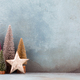 Colorful Christmas tree on blue background. - PhotoDune Item for Sale