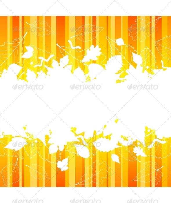 Vector autumn frame with fall leaf - Seasons/Holidays Conceptual