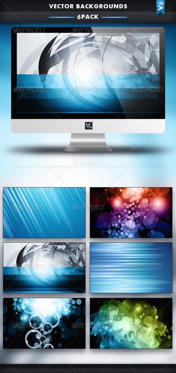6 Pack - Vector Backgrounds V3 - Backgrounds Decorative