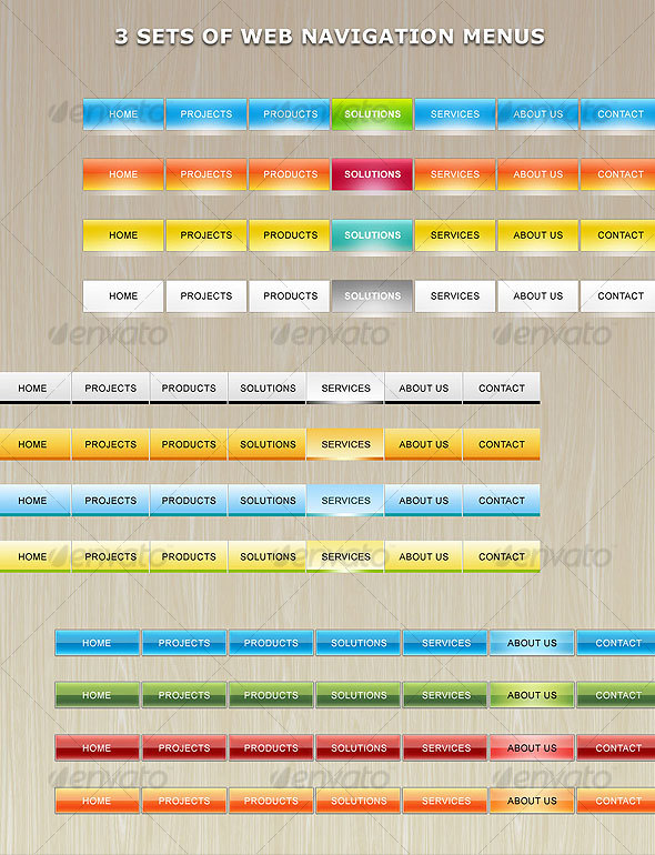 Web Navigation Menu - Web Elements